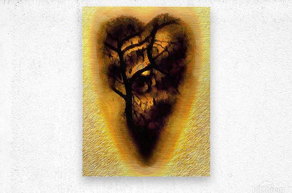 The Moon In My Heart 6  Metal print