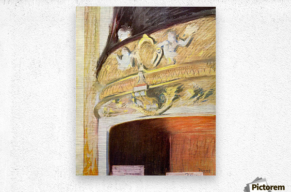 Theater Loge by Degas  Metal print