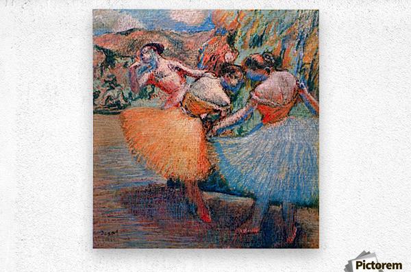 Three dancers 1 by Degas  Metal print
