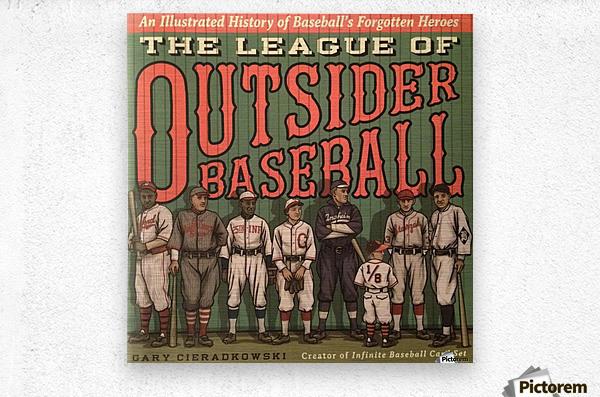 League of Outsider Baseball  Metal print