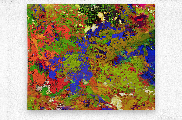 A returning thought  Metal print
