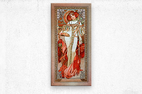 LAutomne by Alphonse Mucha Old Masters Reproduction  Metal print