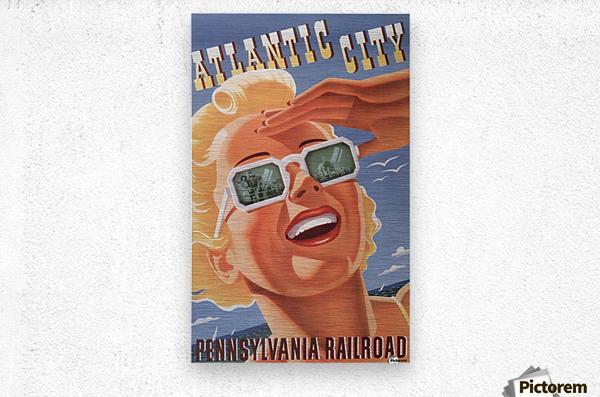 Atlantic City Pennsylvania Railroad Original Poster  Metal print