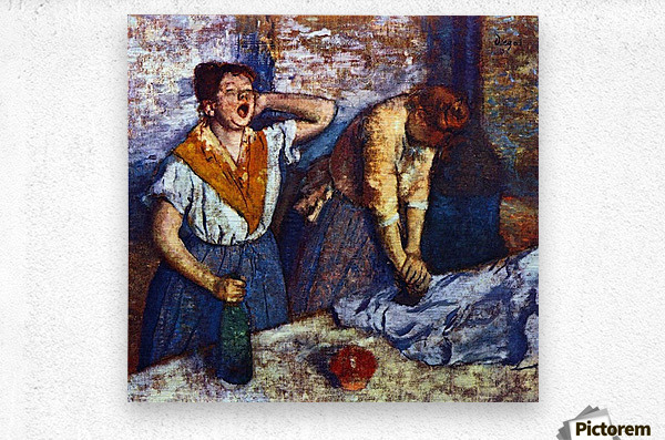 Two cleaning women by Degas  Metal print