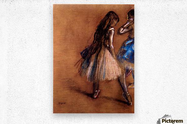 Two dancers 1 by Degas  Metal print