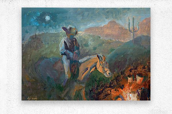 A Cowboys Trusted Friend  Metal print