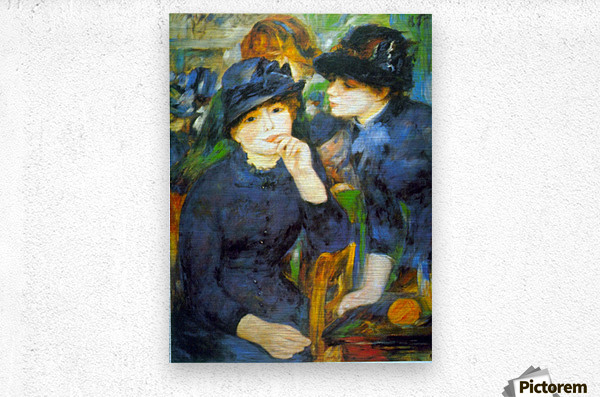 Two Girls by Renoir  Metal print