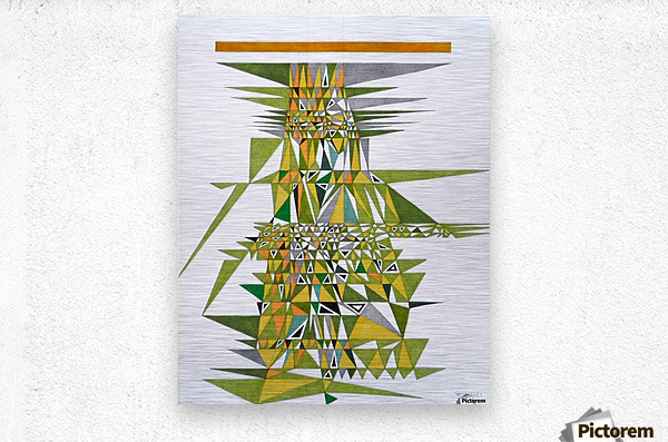 tetris number 4  Metal print