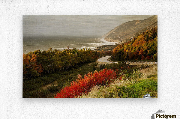 Autumn on the Cabot Trail  Metal print