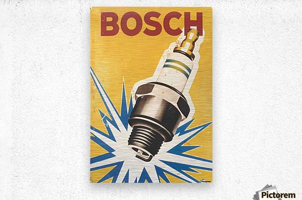 Vintage Bosch Spark Plug Automobile  Metal print