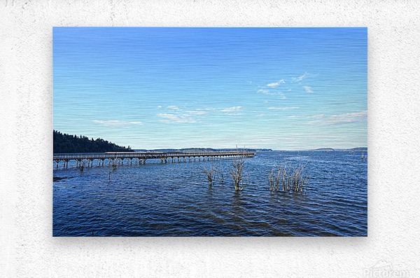 One Day at the Estuary 2 of 4  Metal print