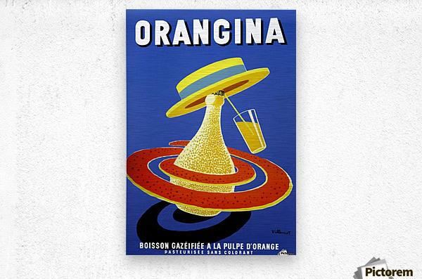 Orangina Vintage Poster  Metal print