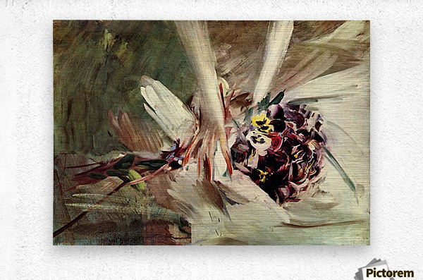 The Pansy by Giovanni Boldini  Metal print