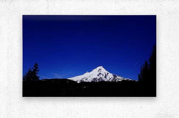 Mount Hood in the Waning Light of Day - Oregon Columbia River Gorge  Metal print