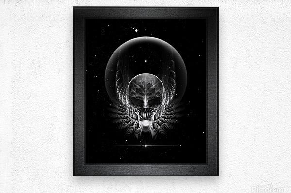 Gothic Wing Feitan Skull Fractal Art Composition  Metal print