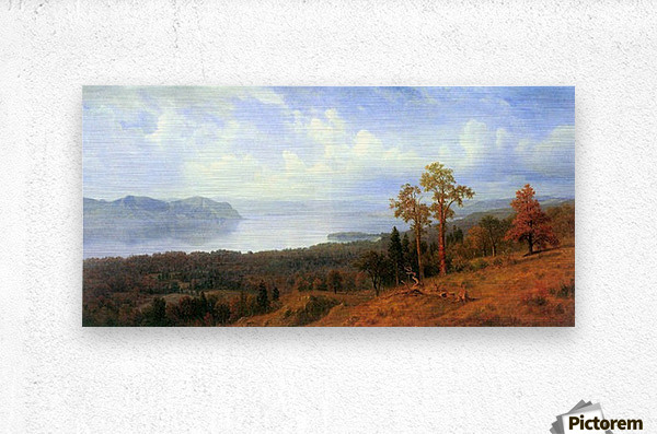View of the Hudson River Vally by Bierstadt  Metal print