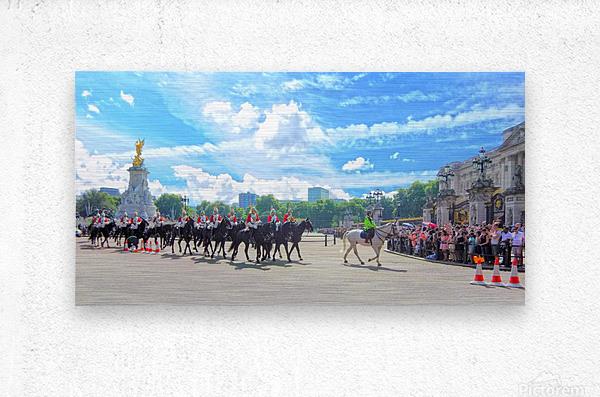 Changing of the Guard London United Kingdom  Metal print