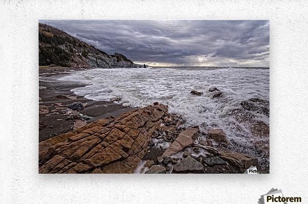 Surf at Pillar Rock  Metal print