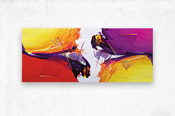 Abstract Art Britto - QB188  Metal print