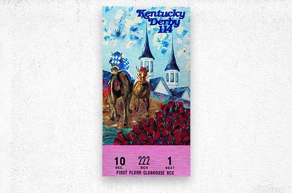 1988 Kentucky Derby Ticket Stub Canvas   Metal print