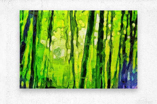 Bamboo forest oil painting inVincent Willem van Goghstyle. 3.   Metal print