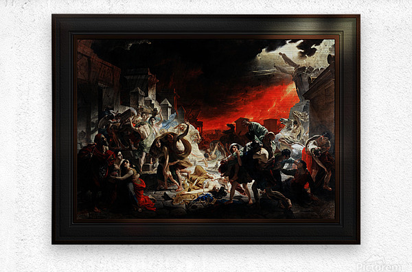 The Last Day of Pompeii by Karl Bryullov Classical Fine Art Xzendor7 Old Masters Reproductions  Metal print