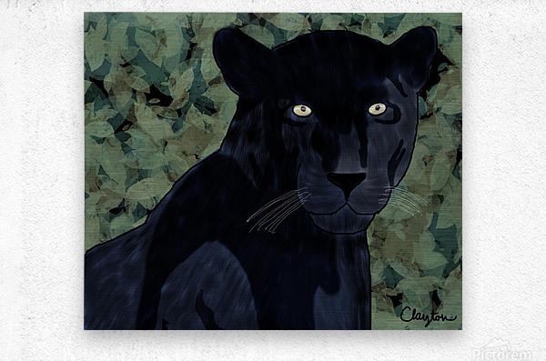 Black Jaguar. Clayton T  Metal print