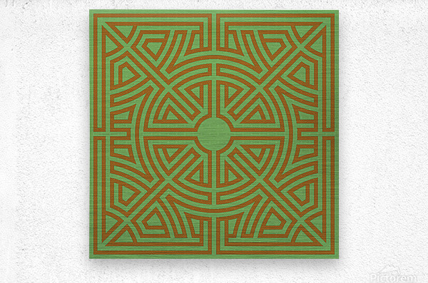 Labyrinth 6001  Metal print