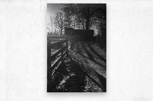 Barn at Sunset  Metal print