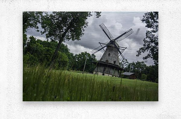 Windmill in a Storm  Metal print