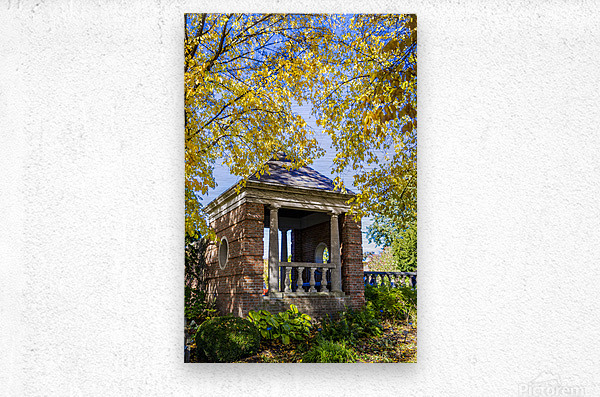 Shelter in the Fall  Metal print