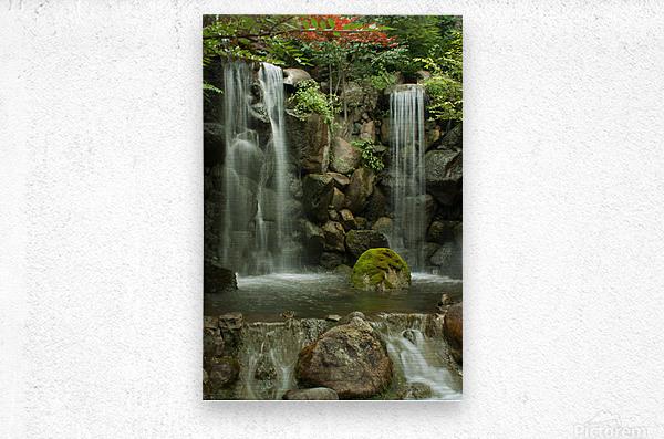 Japanese Waterfalls  Metal print