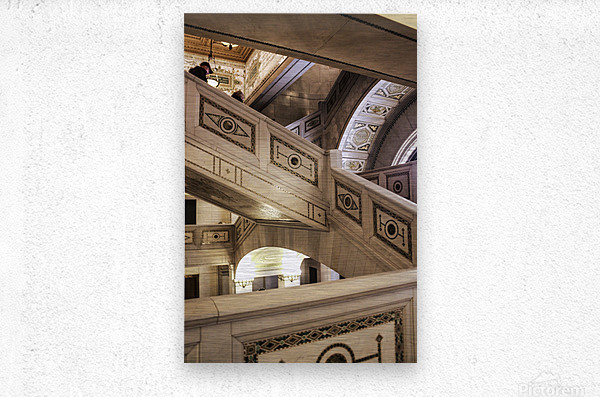 A Painting of Stairs  Metal print