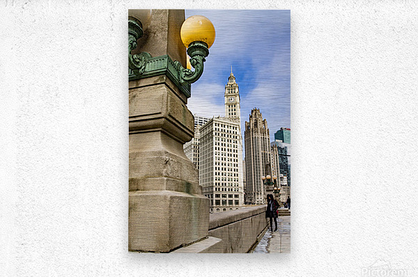 Looking into the River  Metal print