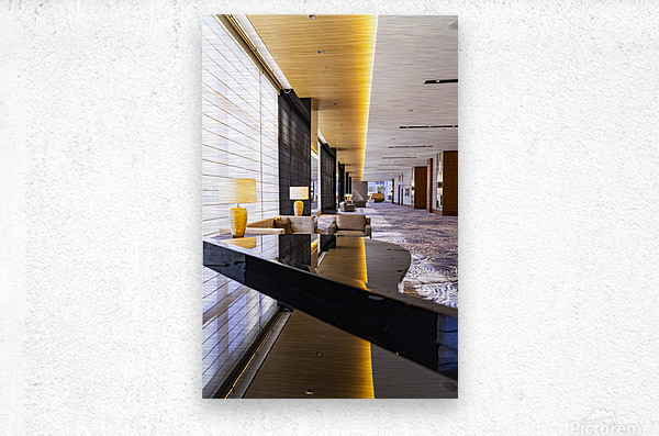 Hotel Hallways  Metal print