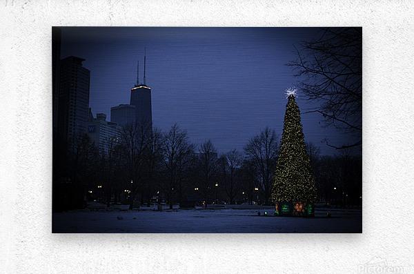Chicago Christmas  Metal print