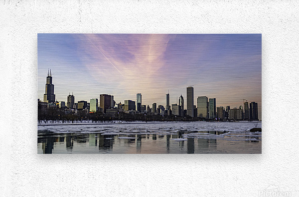 Chicago Skyline at Dusk  Metal print