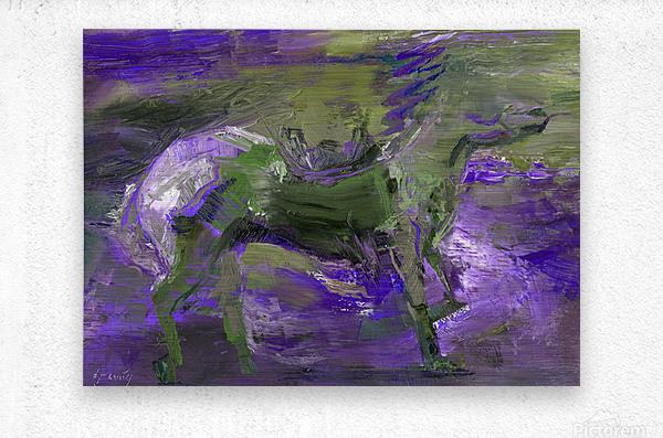 Ghost Rider - Violet  Metal print