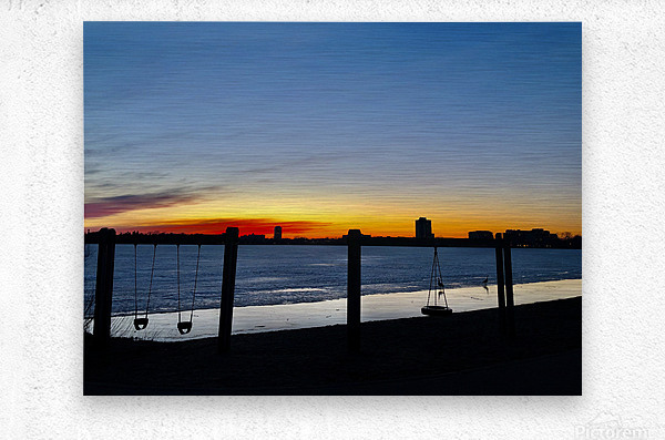 The City is My Playground  Metal print