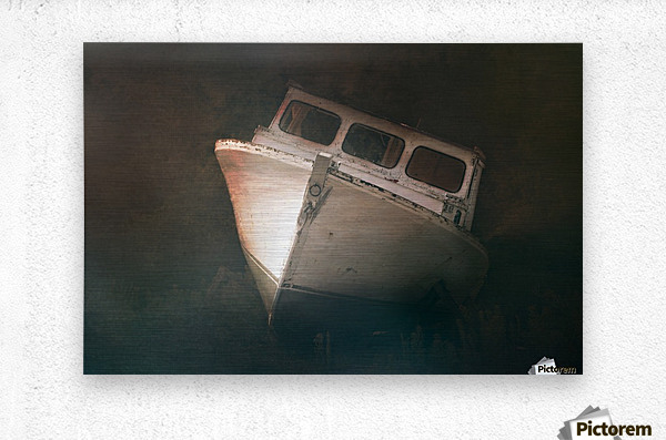 Old and Weathered  Metal print