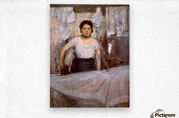 Woman Ironing by Degas  Metal print