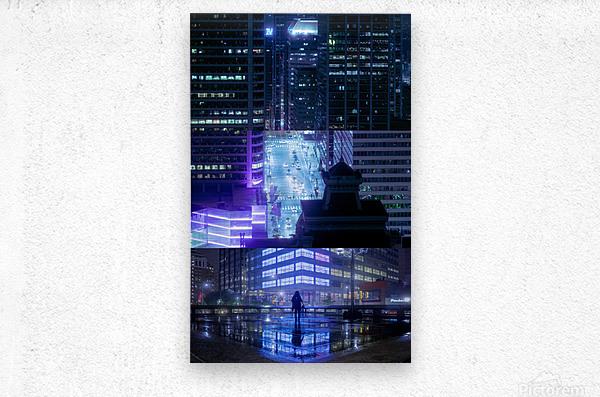Nocturne City  Metal print