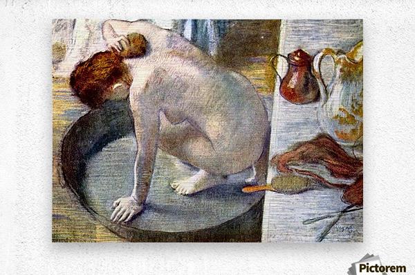 Woman washing in the tub by Degas  Metal print