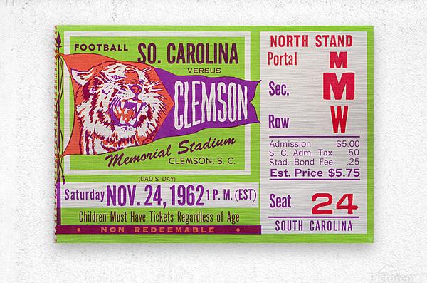 1962 Clemson vs. South Carolina  Metal print