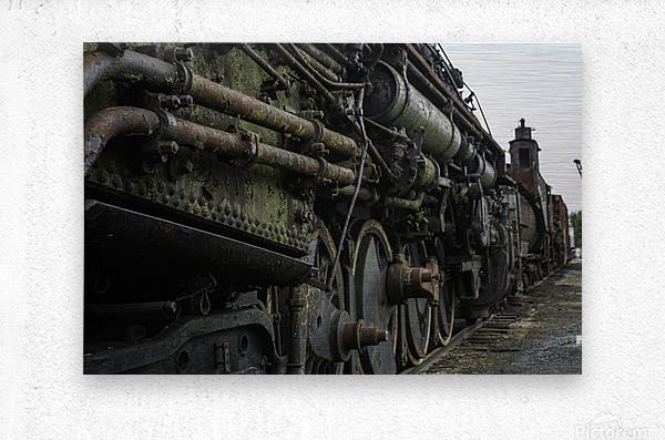 Old Train in the Yard  Metal print