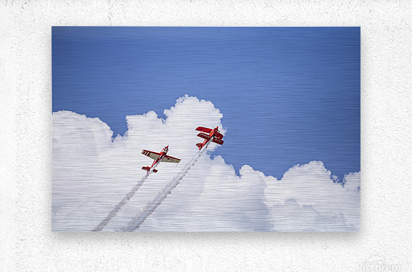 Red Against a Blue Sky  Metal print