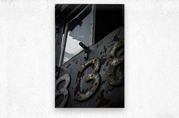 Engine 838  Metal print