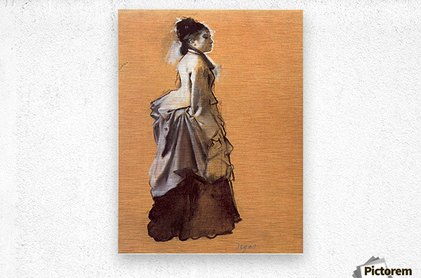 Young lady in the road costume by Degas  Metal print