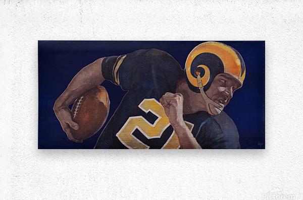 1959 LA Rams Vintage Football Art  Metal print