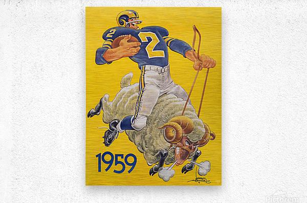 1959 LA Rams Karl Hubenthal Art  Metal print
